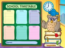 Weekly school timetable concept 8 Stock Photos