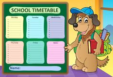Weekly school timetable design 8 Stock Photos