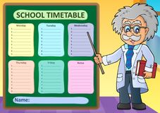 Weekly school timetable design 1 Royalty Free Stock Photos