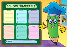 Weekly school timetable template 2 Stock Photography