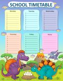 Weekly School Timetable Thematics 2 Stock Images