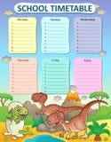 Weekly school timetable thematics 3 Stock Photo