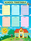 Weekly school timetable theme 2 Royalty Free Stock Photography