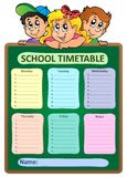 Weekly school timetable theme 5 Royalty Free Stock Image