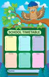 Weekly school timetable topic 1 Royalty Free Stock Images