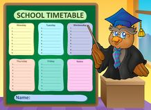 Weekly school timetable topic 8 Royalty Free Stock Photo