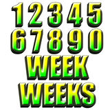 Weeks days design Stock Photo