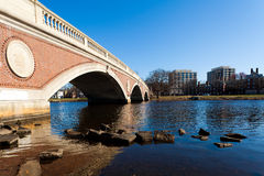 Weeks Memorial Footbridge. View of the Weeks Memorial Footbridge in Boston, Massachusetts - USA on a sunny spring day Royalty Free Stock Photos