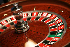 weel рулетки казино стоковая фотография