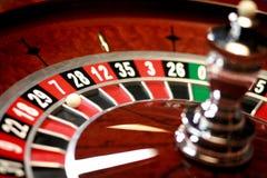 weel delle roulette del casinò Fotografia Stock Libera da Diritti