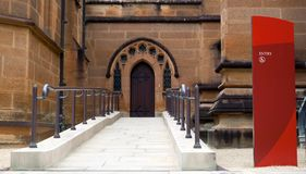 Weelchair entrance to Cathedral Stock Image