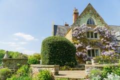 Weelderig rijk gebladerte in een goed gehouden tuin royalty-vrije stock afbeeldingen