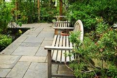 Weelderige groene tuin Royalty-vrije Stock Foto's