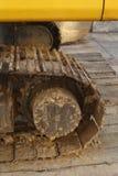Weels Chain de uma máquina escavadora Imagens de Stock Royalty Free