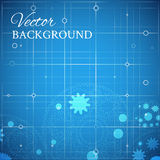 Weels over the blueprint Stock Images