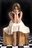 Weemoedige vrouw Royalty-vrije Stock Afbeeldingen