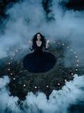 ween a bruxa para conjurar ilustração royalty free