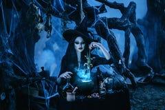 ween la sorcière pour créer Images libres de droits