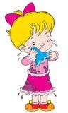 Weeping. Vector clip-art / children's illustration for yours design, postcard, album, cover, scrapbook, etc Stock Image
