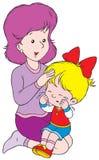 Weeping. Vector clip-art / children's illustration for yours design, postcard, album, cover, scrapbook, etc Stock Photo