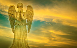 Weeping Angel in heaven Royalty Free Stock Image