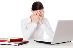 Weeping businesswoman Royalty Free Stock Photography
