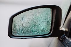 Weeping car mirror stock image