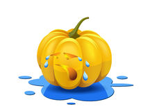 Weeping pumpkin. Royalty Free Stock Photo