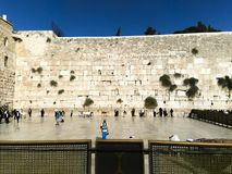 Weeping wall in Jerusalem. City stock photography