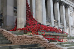 The Weeping Window. At St Georges Hall in Liverpool Stock Images