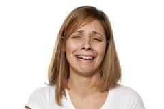 Weeping woman Stock Photos