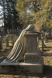 Weeping woman grave marker Royalty Free Stock Images
