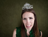 Weeping Woman In a Tiara Royalty Free Stock Image
