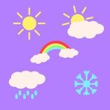 Weer Emojis Royalty-vrije Stock Foto's