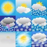 Weer-meteorologie Stock Afbeeldingen