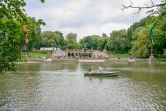 Weergeven aan Bethesda Fountain royalty-vrije stock foto's