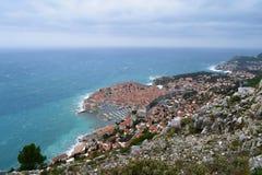 Weergeven aan de oude stad van Dubrovnik stock fotografie