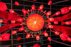 Weergeven aan het plafond van tempel in Kuala Lumpur royalty-vrije stock foto