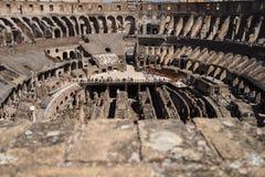 Weergeven binnen Coliseum, Rome, Italië royalty-vrije stock foto