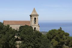 Weergeven Corsicaanse kerk royalty-vrije stock afbeelding