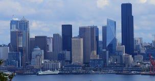Weergeven de havengebied 4K van van Seattle, Washington stock videobeelden