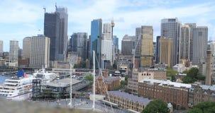 Weergeven de stadscentrum 4K van van Sydney, Australië stock footage