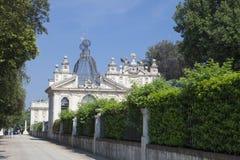 Weergeven in Galleria Borghese in de eeuw grootste Openbaar Park van Villaborghesexviii in Rome Italië stock afbeelding