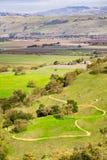 Weergeven naar de vallei van de Open plekdomein van de Coyotevallei, Morgan Hill, baaigebied de Zuid- van San Francisco, Californ stock afbeelding