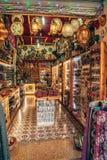 Weergeven op Buyuk Han de Grote Herberg, grootste caravanserai in Cyprus nicosia stock fotografie