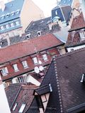 Weergeven op het dak van Parijs stock foto's