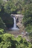 Weergeven over Tegenungan-waterval in Bali royalty-vrije stock foto