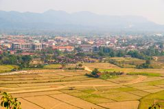 Weergeven over Vang Vieng, Laos stock afbeelding