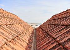 Weergeven tussen de daken royalty-vrije stock foto