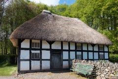 Weergeven van Abernodwydd-Boerderij bij St Fagans Nationaal Museum van Geschiedenis in Cardiff op 27 April, 2019 royalty-vrije stock fotografie